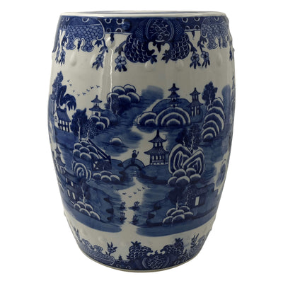 Chinese Blue and White Porcelain Garden Stool