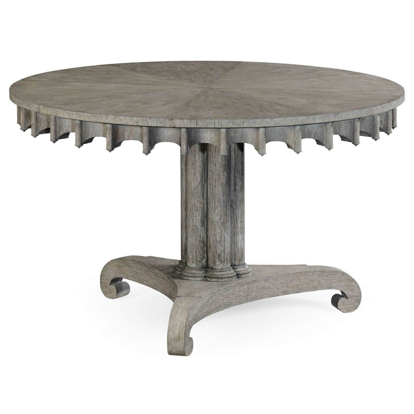 Strange English Gothic Greyed Oak Center Table Gmtry Best Dining Table And Chair Ideas Images Gmtryco