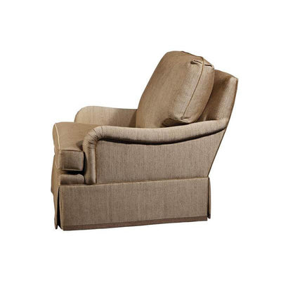 English Upholstered Library Armchair