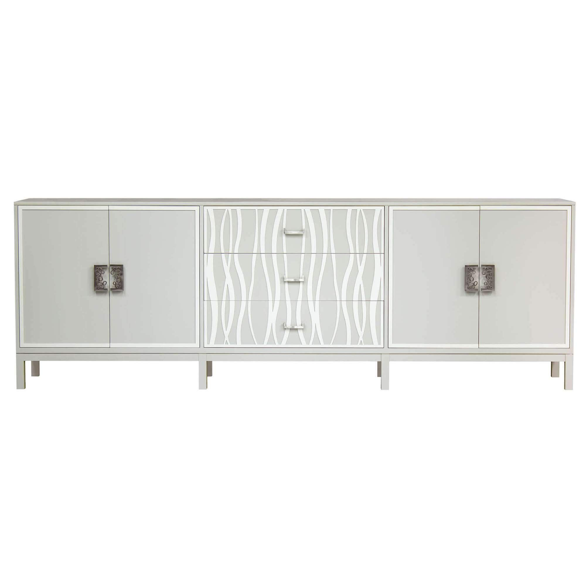 Facets Modern 107 Credenza - Bone Seagrass