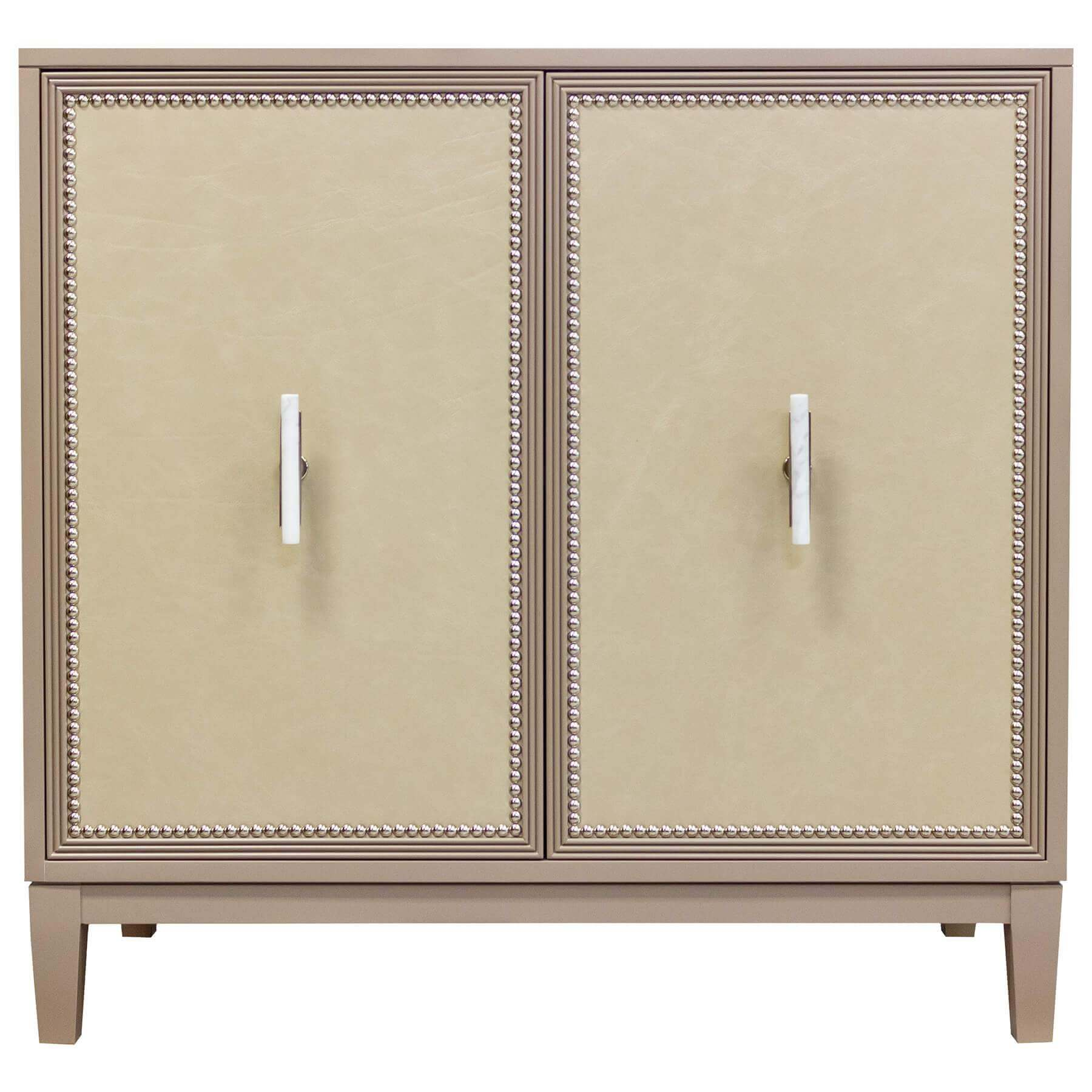 Facets Modern 36 Two-Door Cabinet - Ash Leather