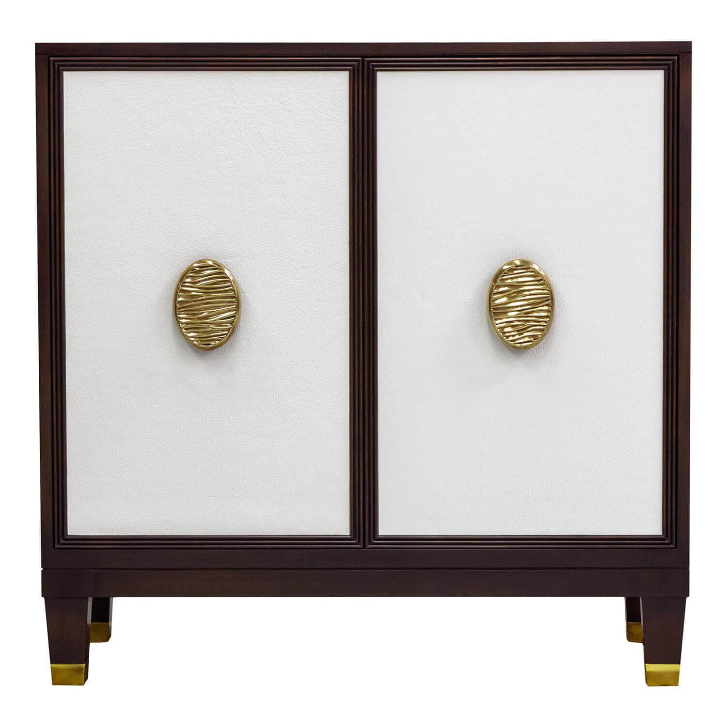 Facets Modern 36 Two-Door Cabinet - Bone
