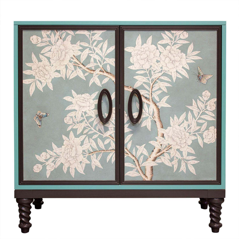 Facets Modern 36 Two-Door Cabinet - Gracie Blue
