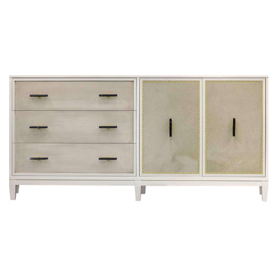 Facets Modern 72 Dresser - Bone