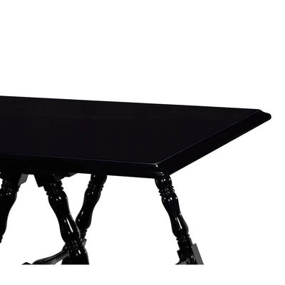 French Louis Philippe Black Lacquered Desk