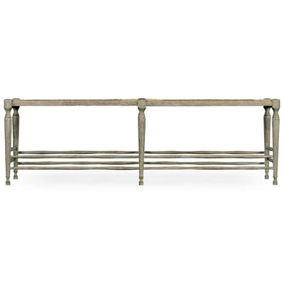 French Provincial Grayed Oak Bench