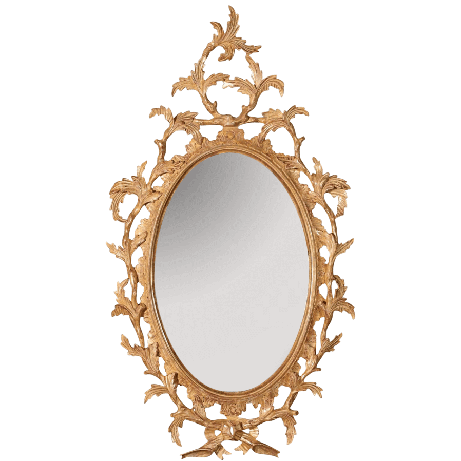 George III Chippendale Oval Mirror