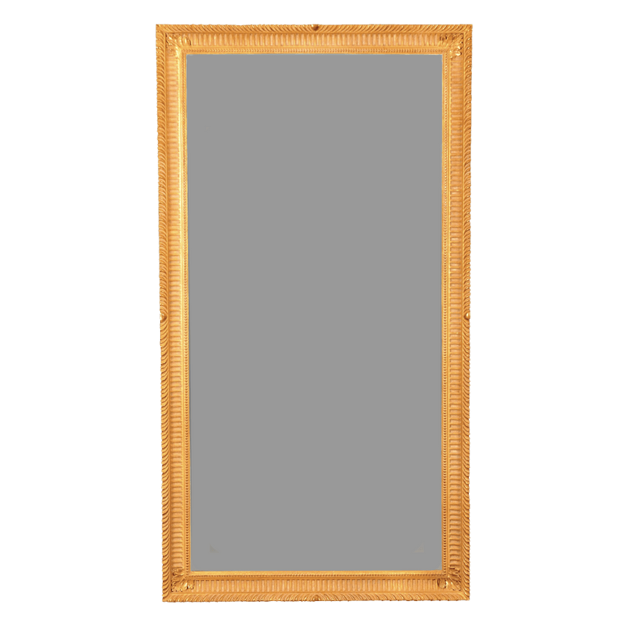 George III Giltwood Pier Mirror with Fluted Frame