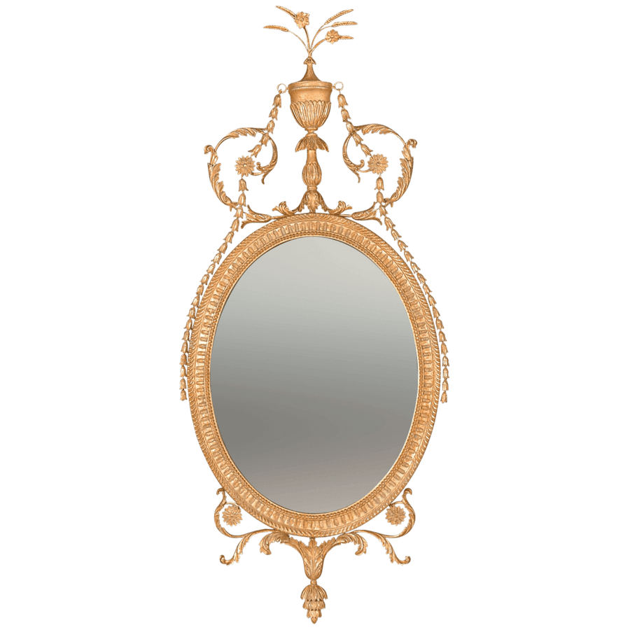 George III Hepplewhite Oval Mirror