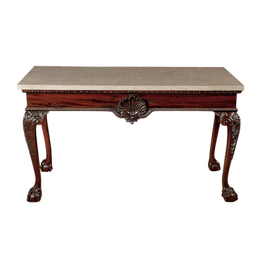George II Mahogany Ball and Claw Foot Console Table