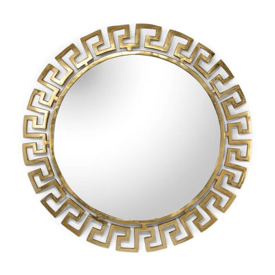 Gold Greek Key Mirror