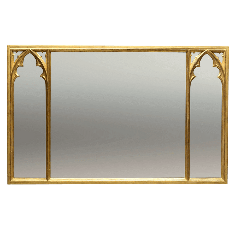 Gothic Over Mantle Mirror