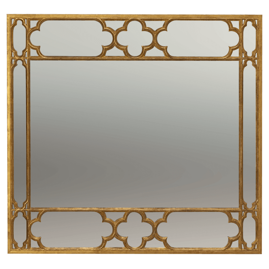 Large Gothic Over Mantle Mirror