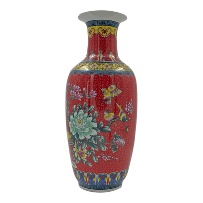 Chinese Export Red Vase