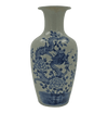 Chinese Blue and White Flared Dragon Vase