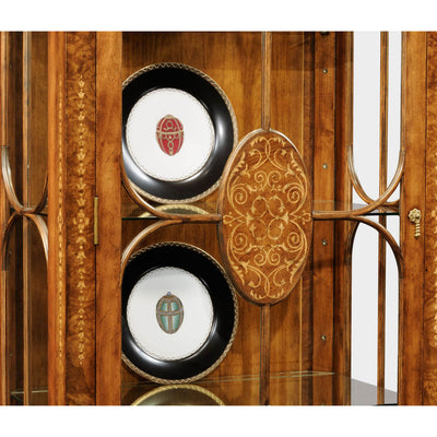 Marquetry Inlaid Display Cabinet