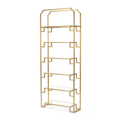 Modern Brass and Glass Etagere