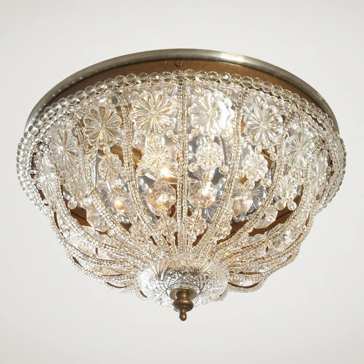 Modern French Flush Mount Light Fixture