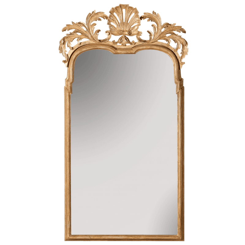 Queen Anne Mirror - Carved Giltwood Shell