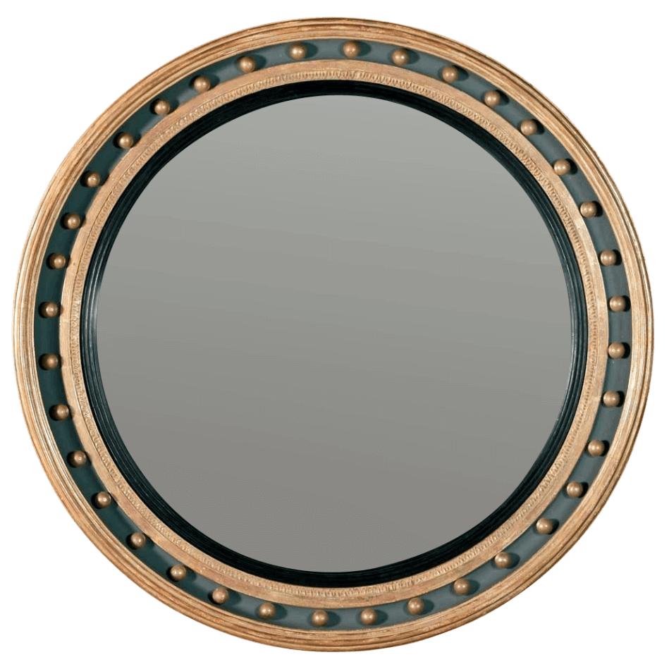 Regency Convex Mirror with Ball Decoration