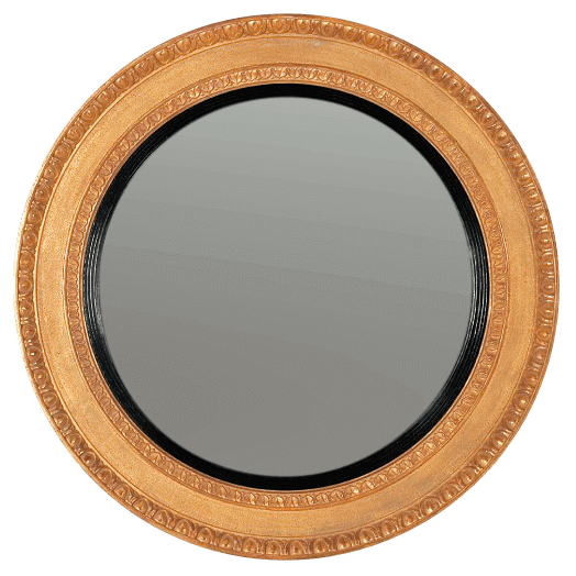Regency Convex Mirror with Egg and Dart Molding