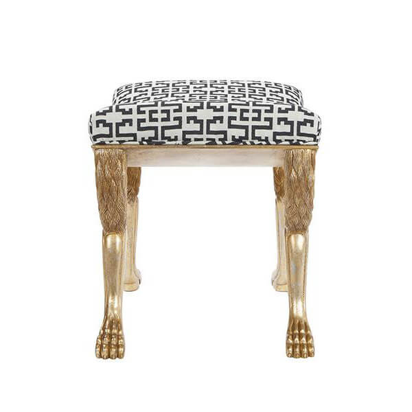 Regency Lion Paw Foot Stool