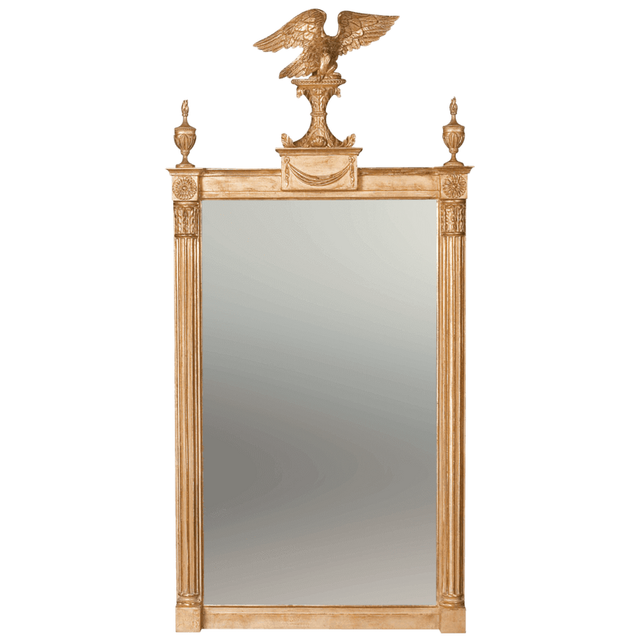 Regency Pier Mirror with Eagle Surmount