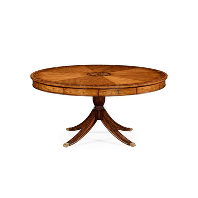 Regency Style Satinwood Round Dining Table