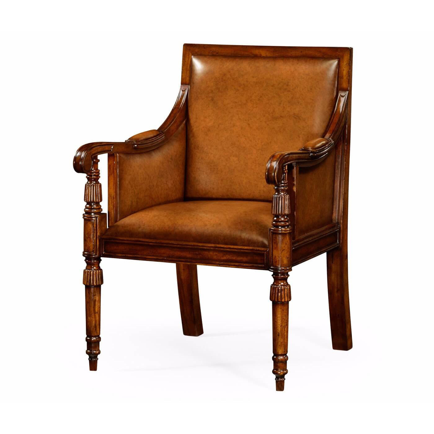 Regency Style Walnut Armchair