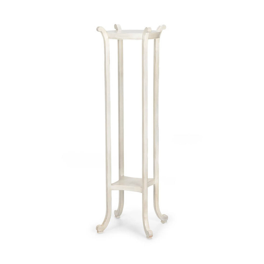 Regency Style White Painted Pedestal