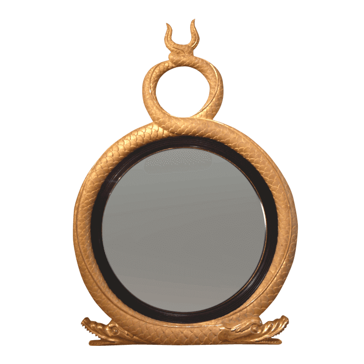Regency Twin Serpent Convex Mirror