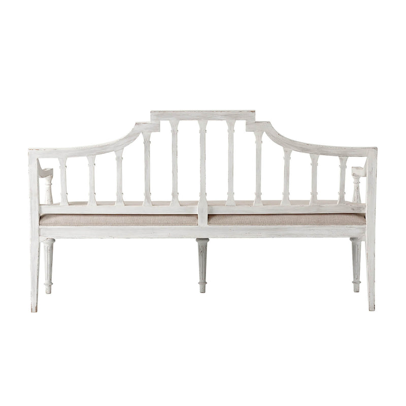 Hepplewhite Style Painted Bench