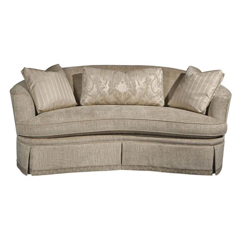 Traditional Curved Back Sofa
