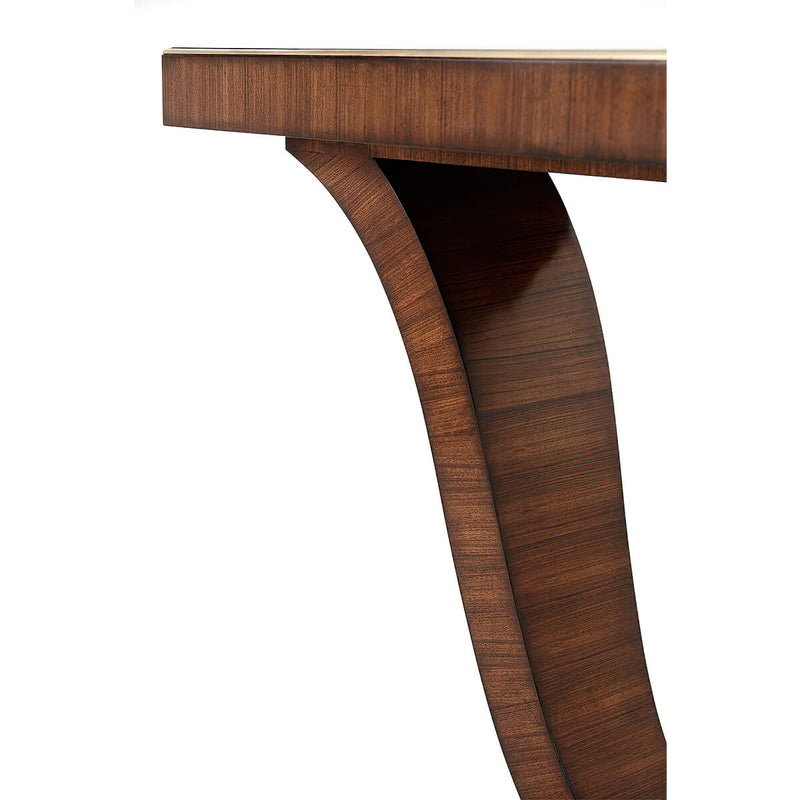 Art Deco Rosewood and Brass Console Table