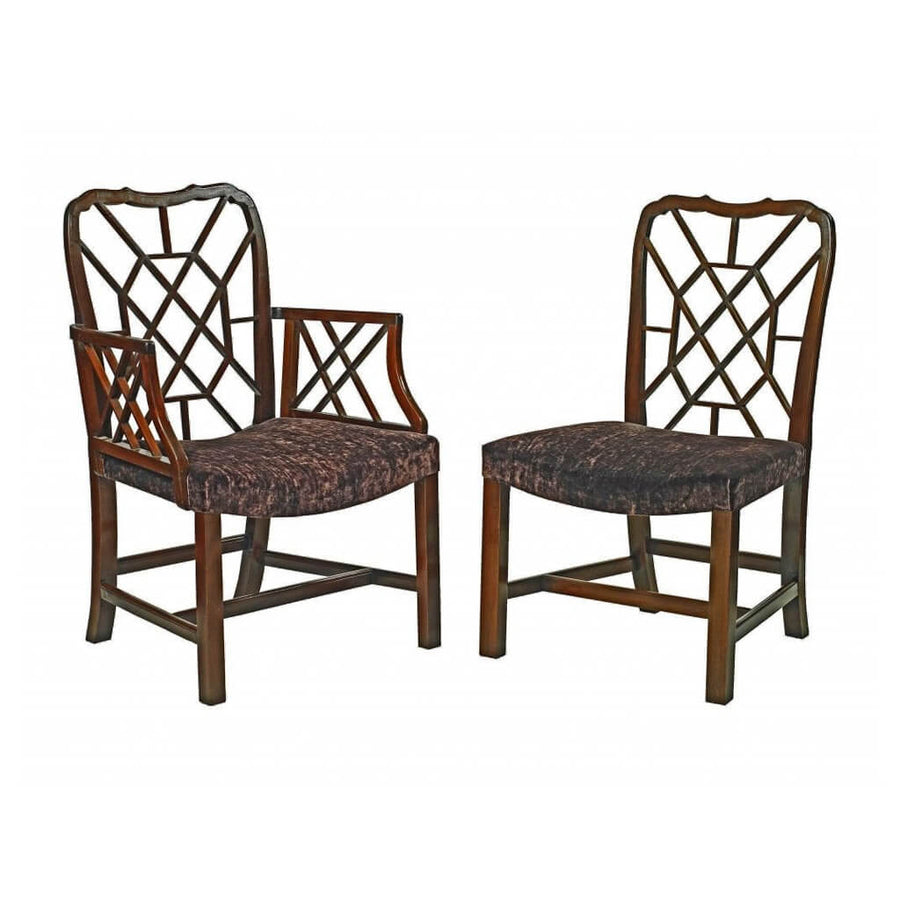 Chinese Chippendale Cockpen Dining Chairs