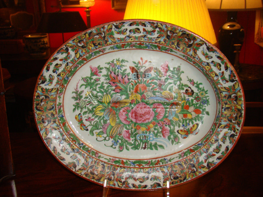 Chinese Export Oval Platter