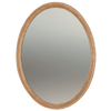 George III Oval Mirror in the Manner of John Linnell