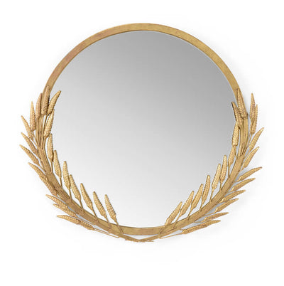 Art Deco Style Gilt Wheat Mirror