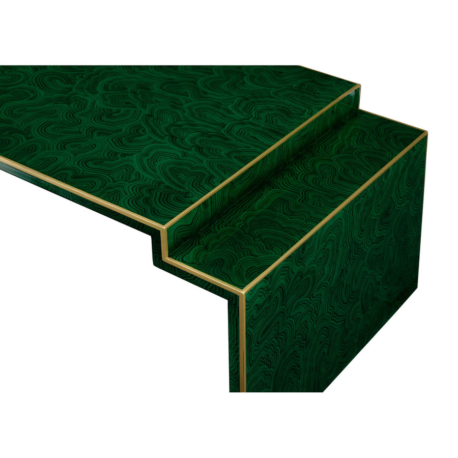 Faux Malachite Cocktail Table