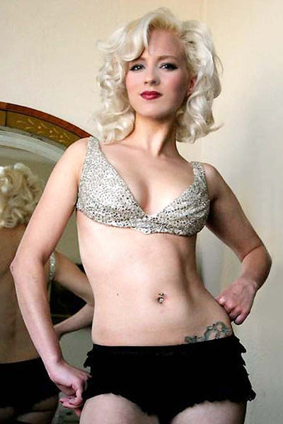 50s Vintage Burlesque Rhinestone Backless Bra