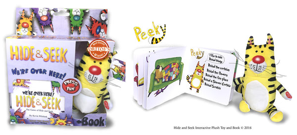 Hide & Seek Interactive Plush Toy And Book (YELLOW)