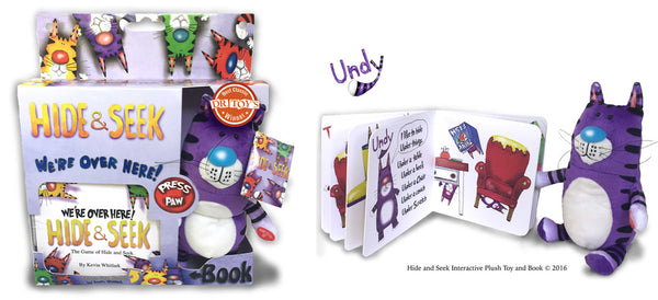 Hide & Seek Interactive Plush Toy And Book (PURPLE)