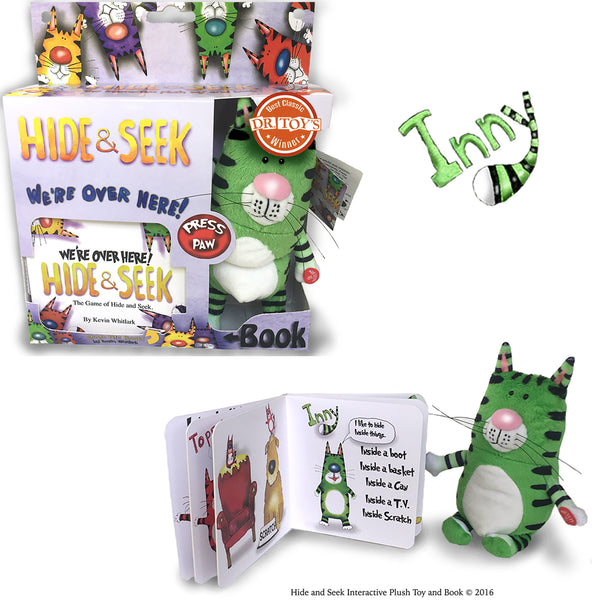 Hide & Seek Interactive Plush Toy And Book (GREEN)