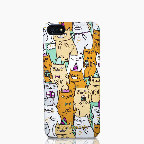 Gemma Correll Cat Print Case for iPhone 5/5S & SE, Kitty
