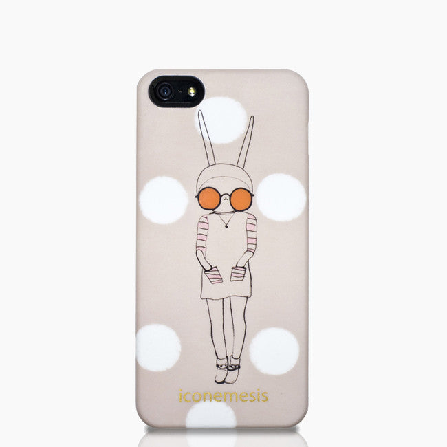 Fifi Lapin Bunny Ears iPhone 5/5s & SE Case, Orange Glasses