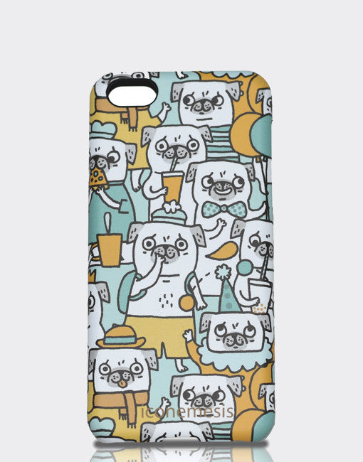Pugs Case for iPhone 5c Designed by Gemma Correll