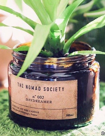 The Nomad Society plant candle Sunriseneverends