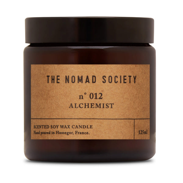 small batch hand poured vegan soy wax candle The Nomad Society