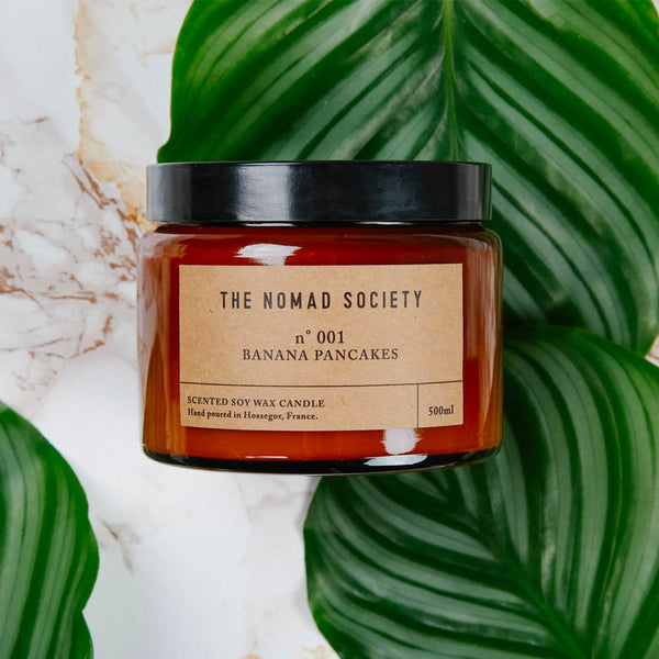 Banana Pancakes soy wax candle The Nomad Society 500ml