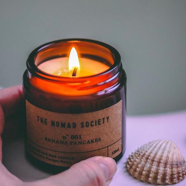 small batch soy wax candle The Nomad Society